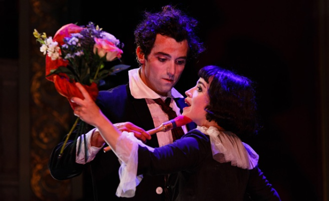 Kneehigh-The-Flying-Lovers-of-Vitebsk-10-c-Steve-Tanner-Marc-Antolin-as-Marc-Chagall-Audrey-Brisson-as